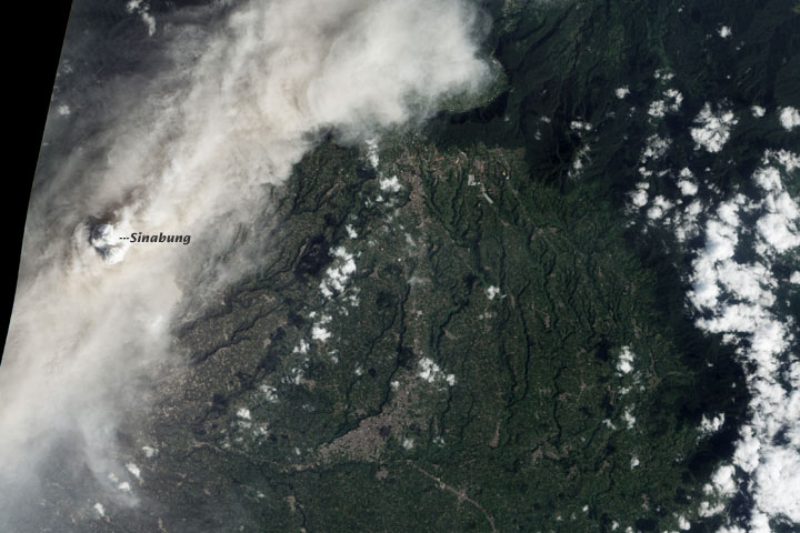 Roiling Ash Plume above Sinabung Volcano - related image preview