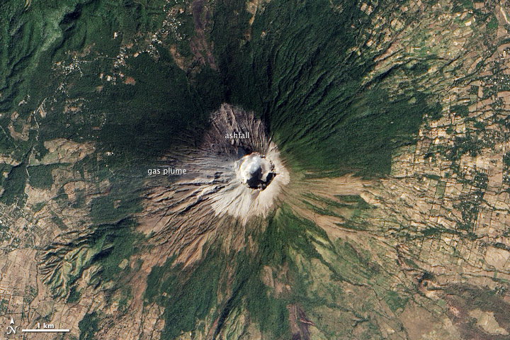 Fresh Ash on San Miguel Volcano
