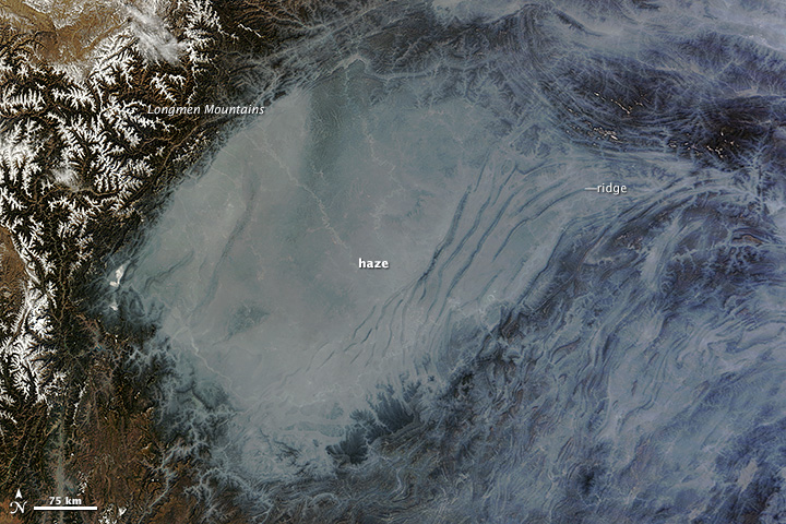 Haze in the Sichuan Basin