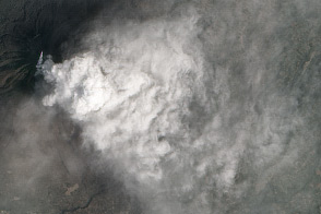 Smothering Ash Cloud from Sinabung Volcano