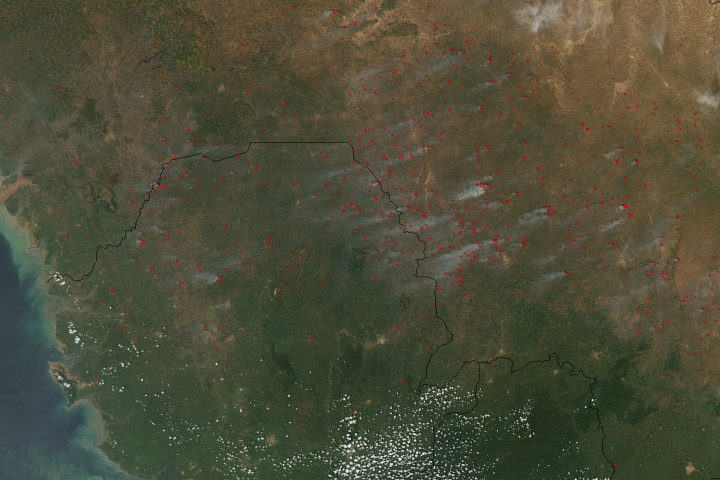 Agriculture Fires in West Africa