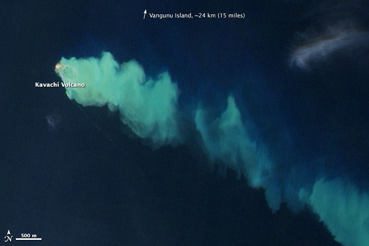 Evidence of an Underwater Eruption at Kavachi