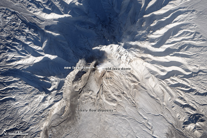 New Lava Dome Grows on Shiveluch - related image preview