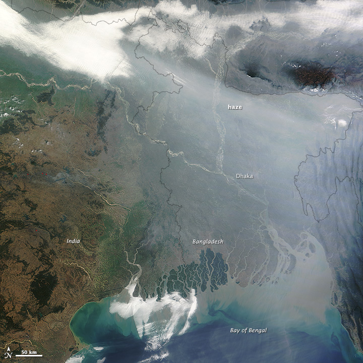 Winter Haze over Bangladesh