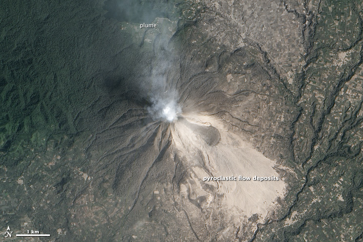 Changed Landscape Around Sinabung