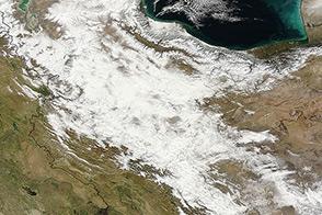 Snow Blankets Iran