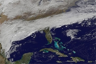 Snowstorm Approaching the Southeastern United States