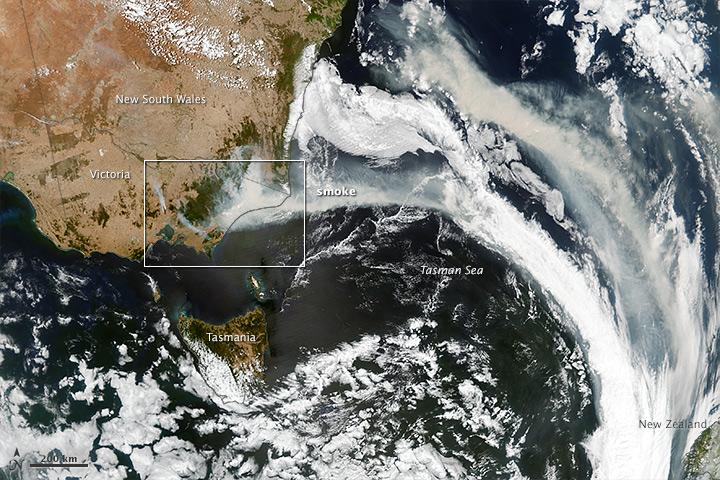 City-sized Fire in Australia
