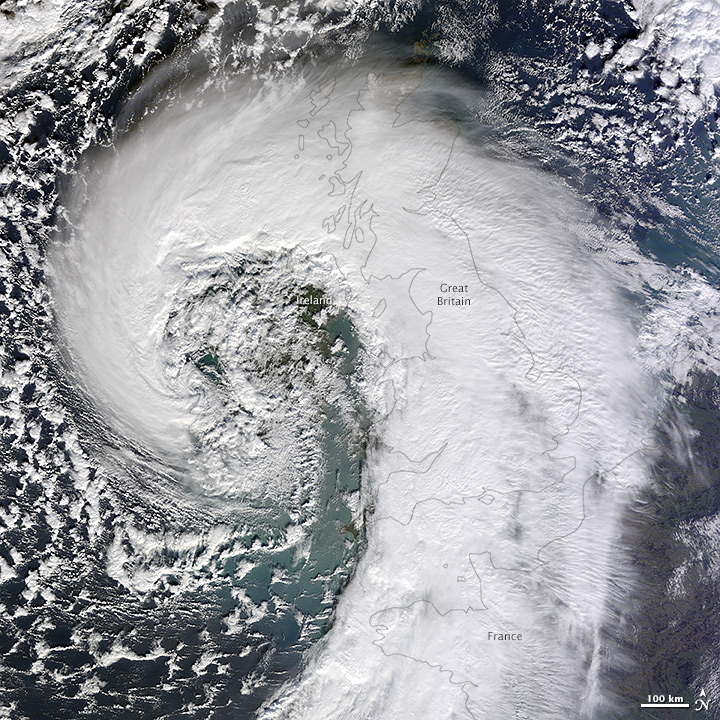 Extratropical Cyclone over the United Kingdom - related image preview