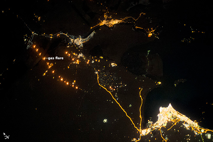 Gas Flaring in Iraq - related image preview