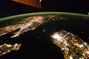The Koreas at Night - selected image