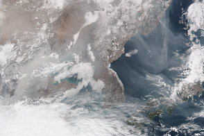 Haze Blows Across Northeastern Asia