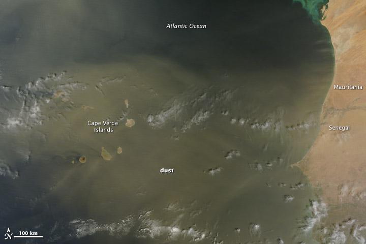 Cape Verde Under Dust