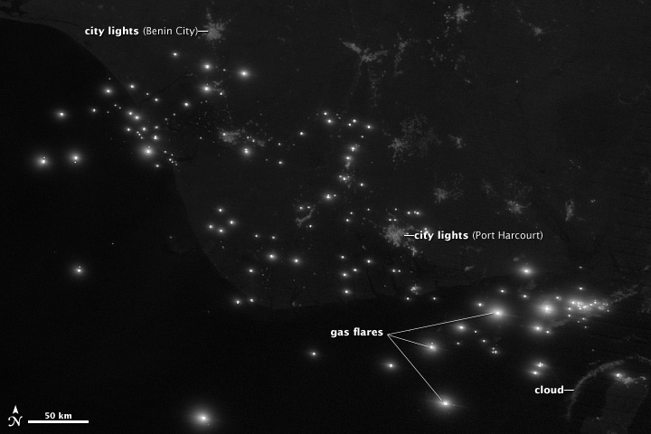 Niger River Delta by Night - related image preview
