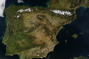 Clear Skies Over the Iberian Peninsula