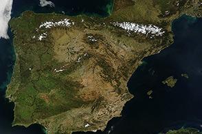 Clear Skies Over the Iberian Peninsula