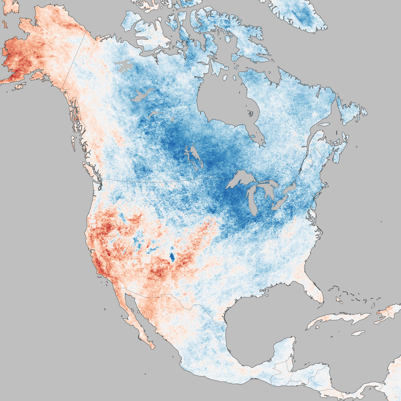 Some Perspective On Winter   Image Of The Day - North america air temperature map
