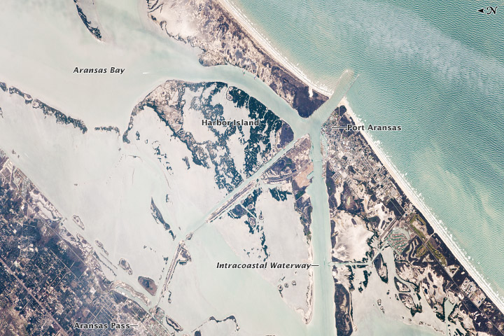 Port Aransas and the Intracoastal Waterway, Texas