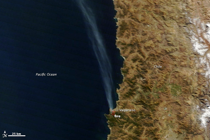 Wildfire Burns Valparaiso, Chile