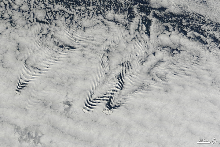 Ship Wave Clouds Behind the Crozet Islands - related image preview