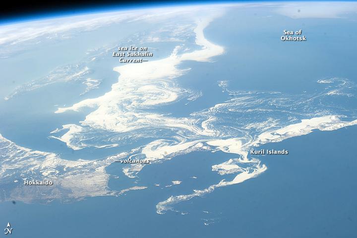 Ice in the Sea of Okhotsk
