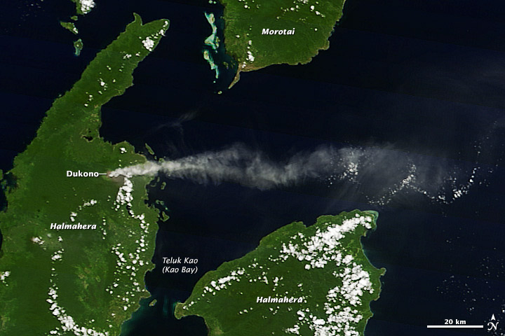Plume from Dukono Volcano, Indonesia