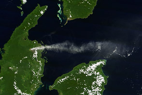 Plume from Dukono Volcano, Indonesia - selected image