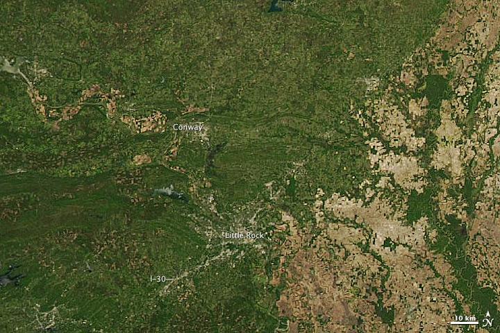 Tornado Track near Conway, Arkansas