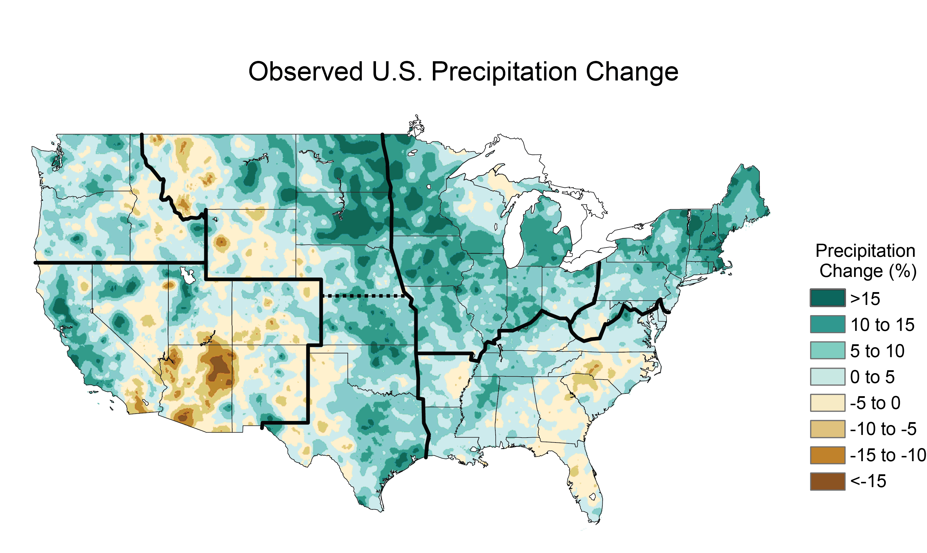 Climate Changes In The United States Image Of The Day - Precipitation map of us