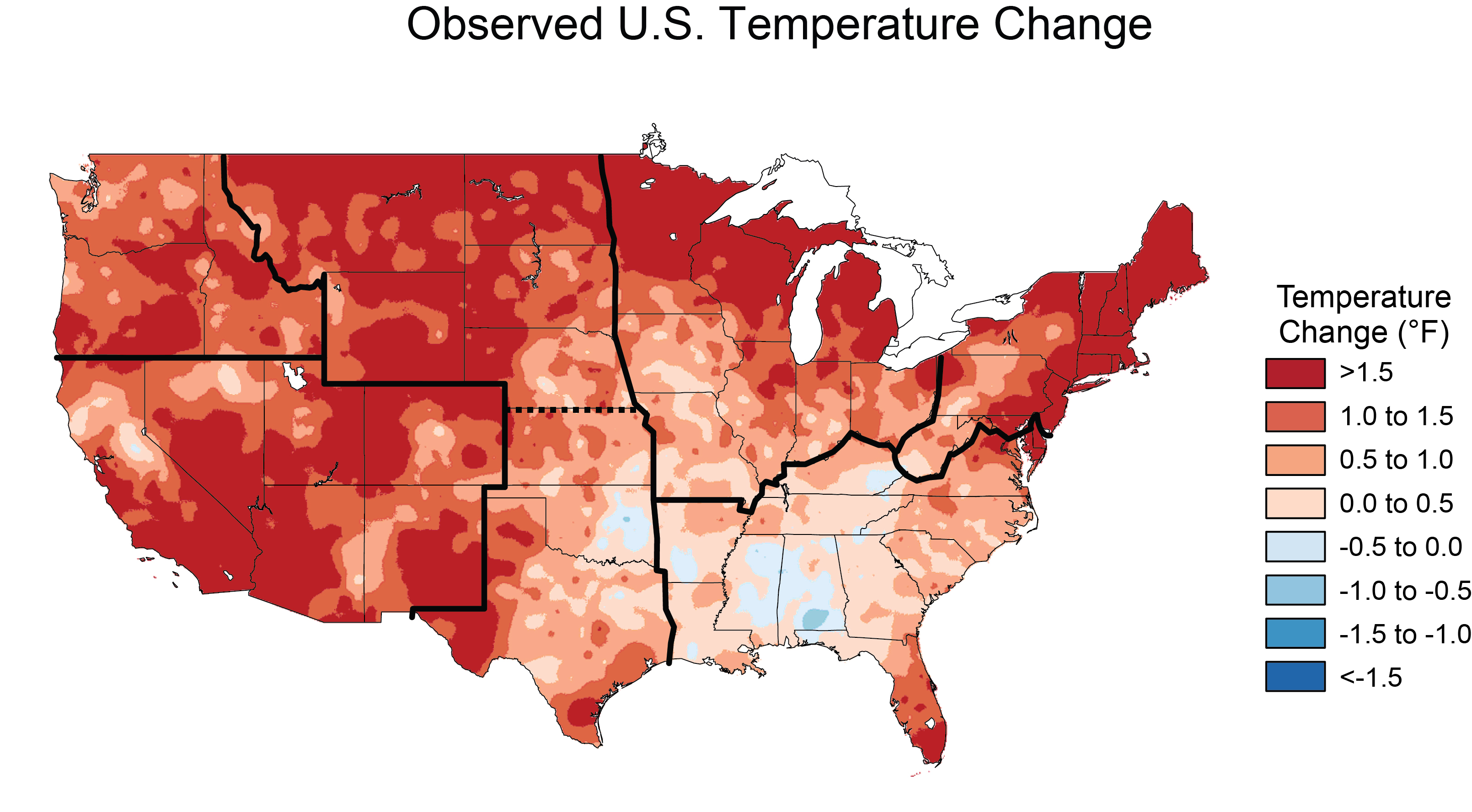 Climate Change Map Us Climate Changes in the United States