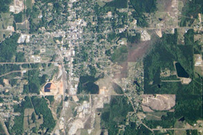 Tornado Track in Louisville, Mississippi - selected image