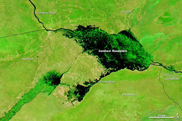 Flooding on the Zambezi River
