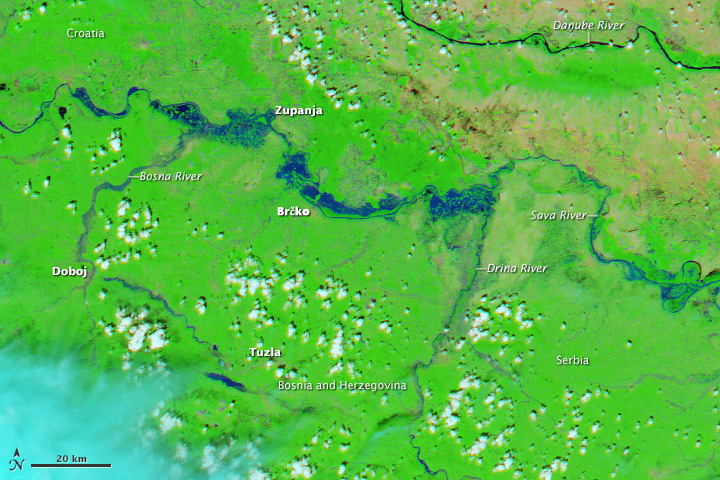 Severe Flooding in the Balkans