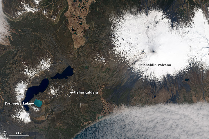 Shishaldin Volcano and Turquoise Lake - related image preview