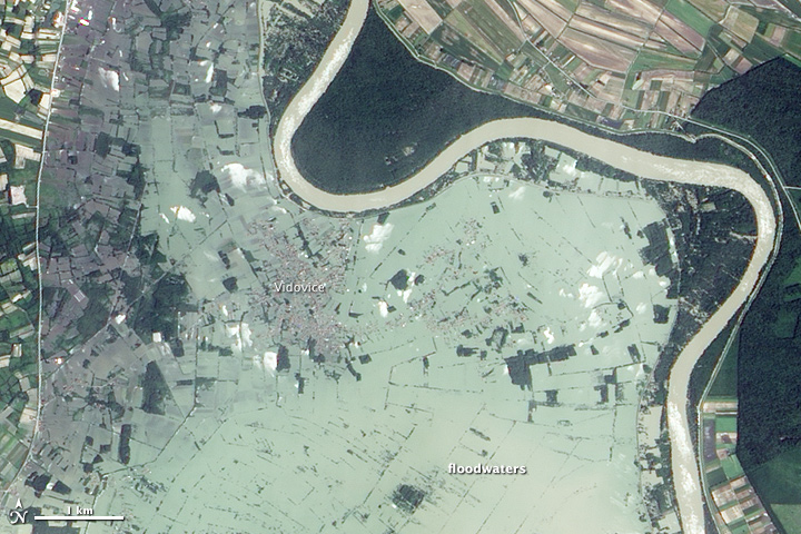Close-Up of Flooding in the Balkans