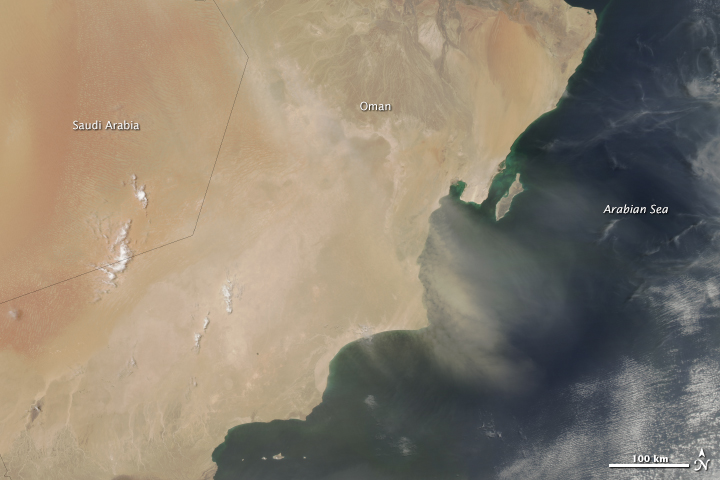 Dust over Oman