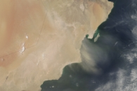 Dust over Oman