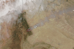 Assayii Lake Fire, New Mexico - selected image
