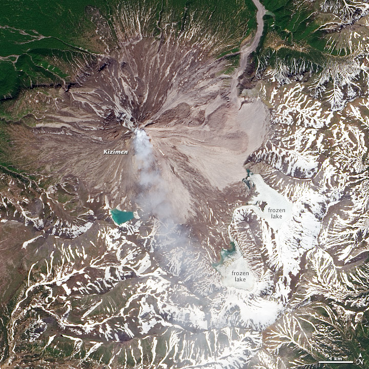 Activity at Kizimen Volcano - related image preview