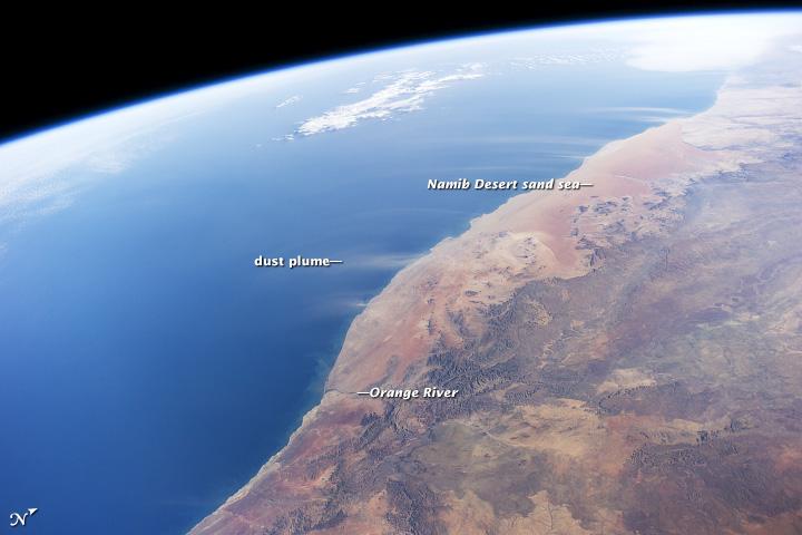 Dust Plumes, Namib Desert