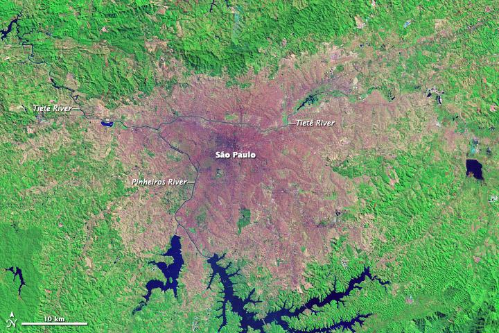 Growth of São Paulo, Brazil