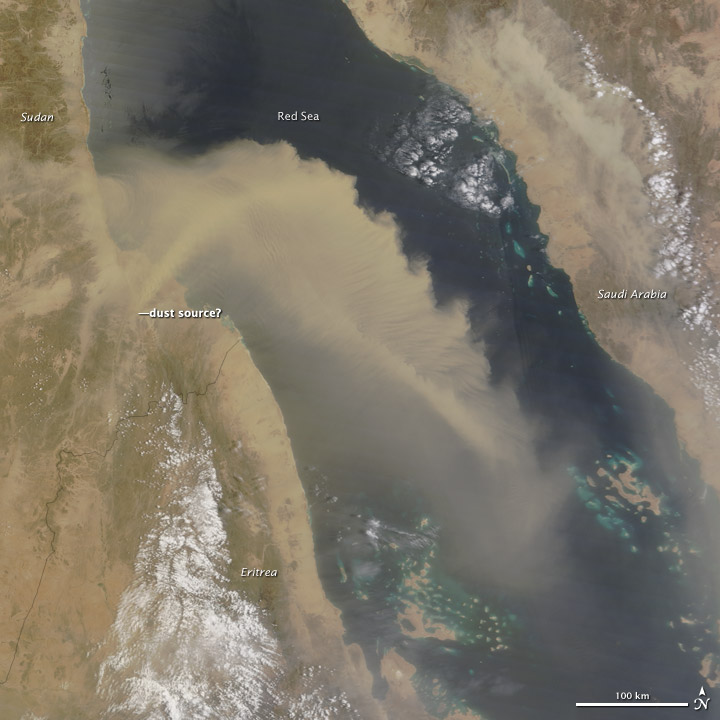 Dust Plume Over the Red Sea