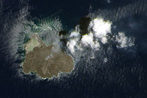 Growth of Nishino-shima Volcanic Island