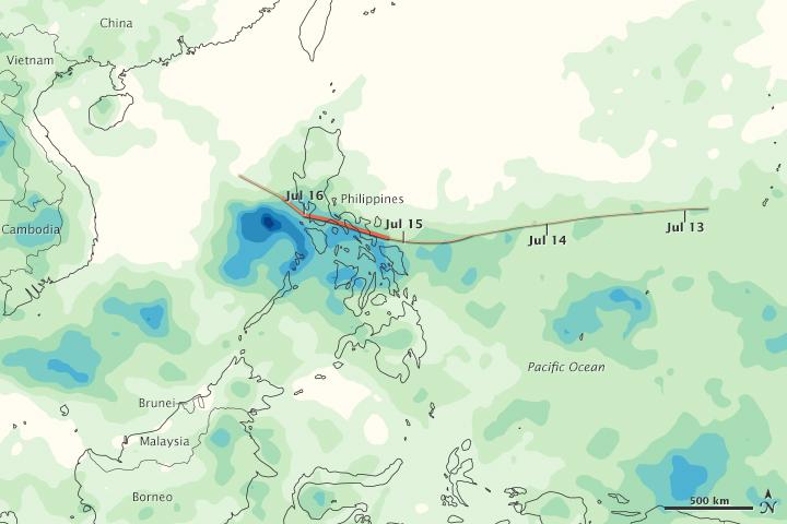 Typhoon Rammasun Drenches Philippines