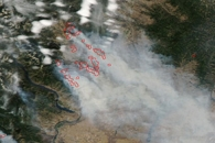 Carlton Complex Fire, Washington
