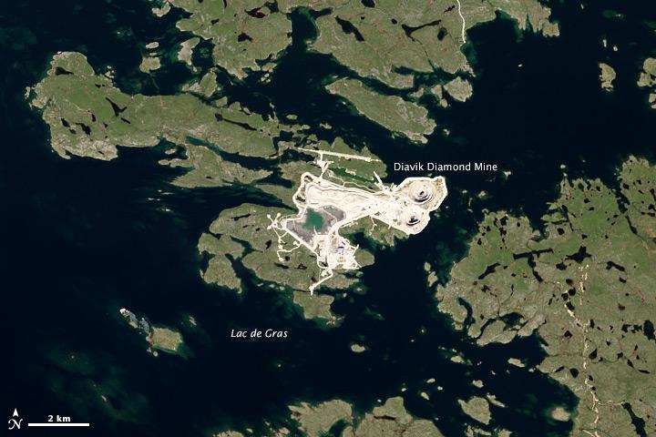 Diamonds in the Sub-Arctic Rough