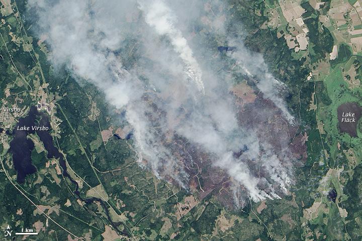 Wildfire in Sweden
