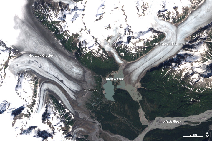 Retreat of Novatak and East Novatak Glacier