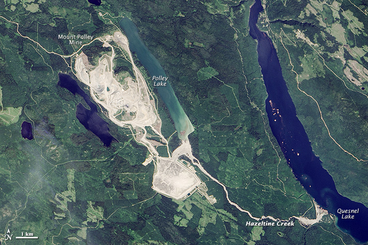Dam Breach at Mount Polley Mine in British Columbia