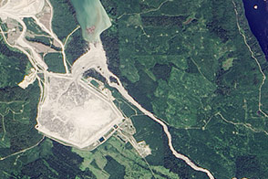 Dam Breach at Mount Polley Mine in British Columbia - selected image